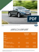 Lista de Preturi Ford Edge