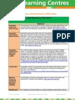 Language Literacy and Numeracy Weblinks V1.0 2014
