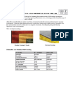 Arc Gratings Technical Specs