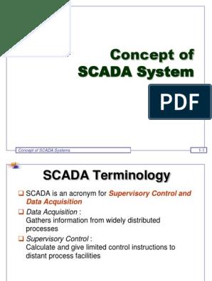 01 Concept of SCADA Systems | Scada | Programmable Logic