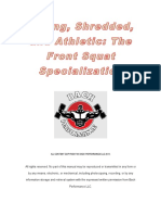 1Strong, Shredded, And Athletic- The Front Squat Specialization