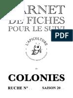 Carnet de Fiches Suivi Des Colonies