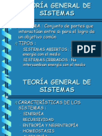 Presentación Teoría General de Sistemas