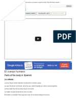 El cuerpo humano y sus partes en español con fotos - Parts of the Body in Spanish.doc