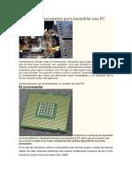 Componentes Necesarios Para Ensamblar Una PC