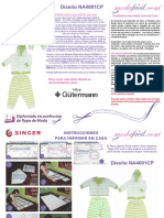 Instrucciones de Costura Conjunto de Deportes de Saco y Pantalon Para Bebes Na4001cp