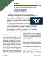 Fungal Spondylodiscitis Unexpected Diagnosis Case Report and Literature Review 2165 7939 1000313