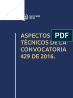 Cartilla 003 Aspectos Tecnicos de La Convocatoria 429 de 2016