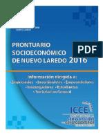Prontuario Socioeconómico de Nuevo Laredo 2016