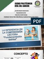 """1 La Inferencia en La Comprensión Lectora """"Fundamentación Teórica. Mejia, Fuertes, Vivas Sepulveda"""