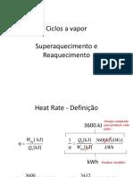3-) Ciclos a Vapor Superaquecimento e Reaquecimento