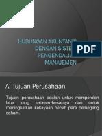 1. Hubungan Akuntansi Dengan Sistem Pengendalian Manajemen