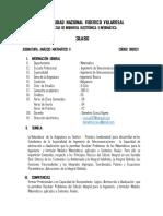 Silabo Por Competencias de Analisis Matematico II UNFV-FIEI-Ccesa007