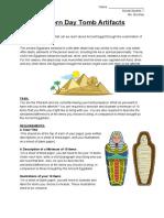 modern day tomb artifacts - grade 7