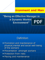 Work Environment and Man