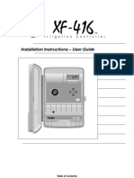 XF416 Installation and Users Guide