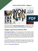 Tangga Lagu Korea Februari 2018 – Minggu 2