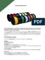 Guia Definitiva de Filamientos Impresoras 3D
