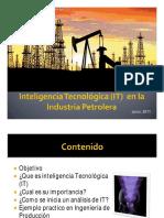 UNELLEZ - Ing Sharon Escalante - Inteligencia Tecnológica en La Industria Petrolera