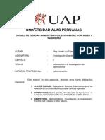 01-Separata de Investigacion Operativa - UAP-2009 - Capitulo 01