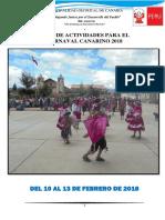 Plan de Trabajo Carnaval 2018
