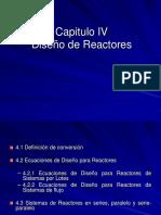 Capitulo IV Diseño de Reactores