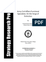 Army Civil Affairs Functional Areas
