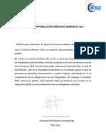 Declaración Pública Esg Servicios Generales Spa