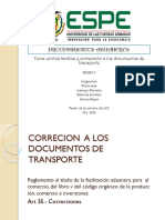 Envios Tardios Correcion Doc Transpirte