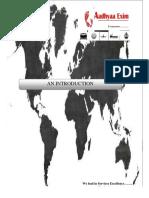 Company Profile- Aadhyaa Exim
