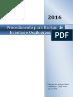 Procedimento Backup Eventos F650