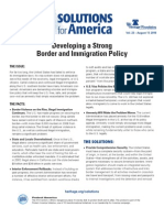 Developing a Strong Border and Immigration Policy
