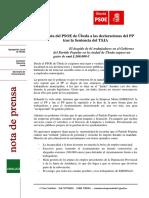 Comunicado Respuesta al PP sobre las declaraciones sobre Emdesau