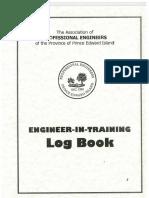 Engineer in Training Log Book