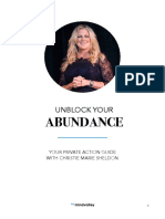 Unblock Your Abundance by Christiemarie Sheldon Workbook Sp New Jan
