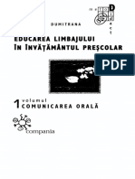 Educarea Limbajului in Invatamantul Prescolar (M. Dumitrana)