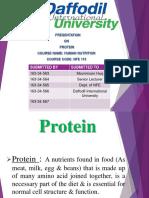 Presentation on Protein