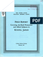 USSBS Reports No.6, Field Report Covering Air-Raid Protection, Kyoto, Japan