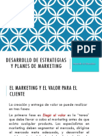 Desarrollo de Estrategias y Planes de Marketing