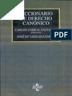 CORRAL SALVADOR, C. (Dir), Diccionario de Derecho Canónico, 2000