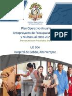 1. Estructura Para Presentación Poa 2018