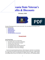 Vet State Benefits & Discounts - PA 2018