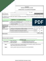 Formato Evaluacion de Proveedores 2