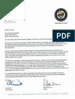 Mayor Sylvester Turner, Harris County Judge Ed Emmett letter to Texas Gov. Greg Abbott seeking state help on repairs