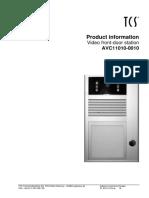 TCS video interfon model AVC11010-uk.pdf
