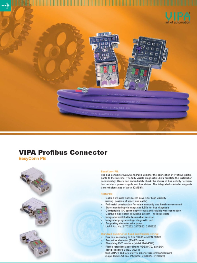 Vipa Profibus Stecker Eng 11 200 Web Electrical Connector P B Wiring