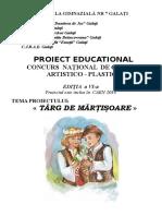 Proiect Targ de Martisoare 2018 Promovare