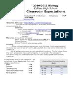 2010-2011 Kellam Classroom Expectations