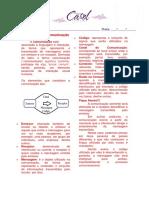 Atividade Elementos Da Comunicação e Fonemas e Letras 6 Ano