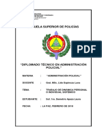 Administración Policial Trabajo de Dinámica Personal o Individual Sistémico 2018